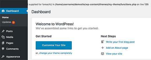 Pluggable.php file error in WordPress