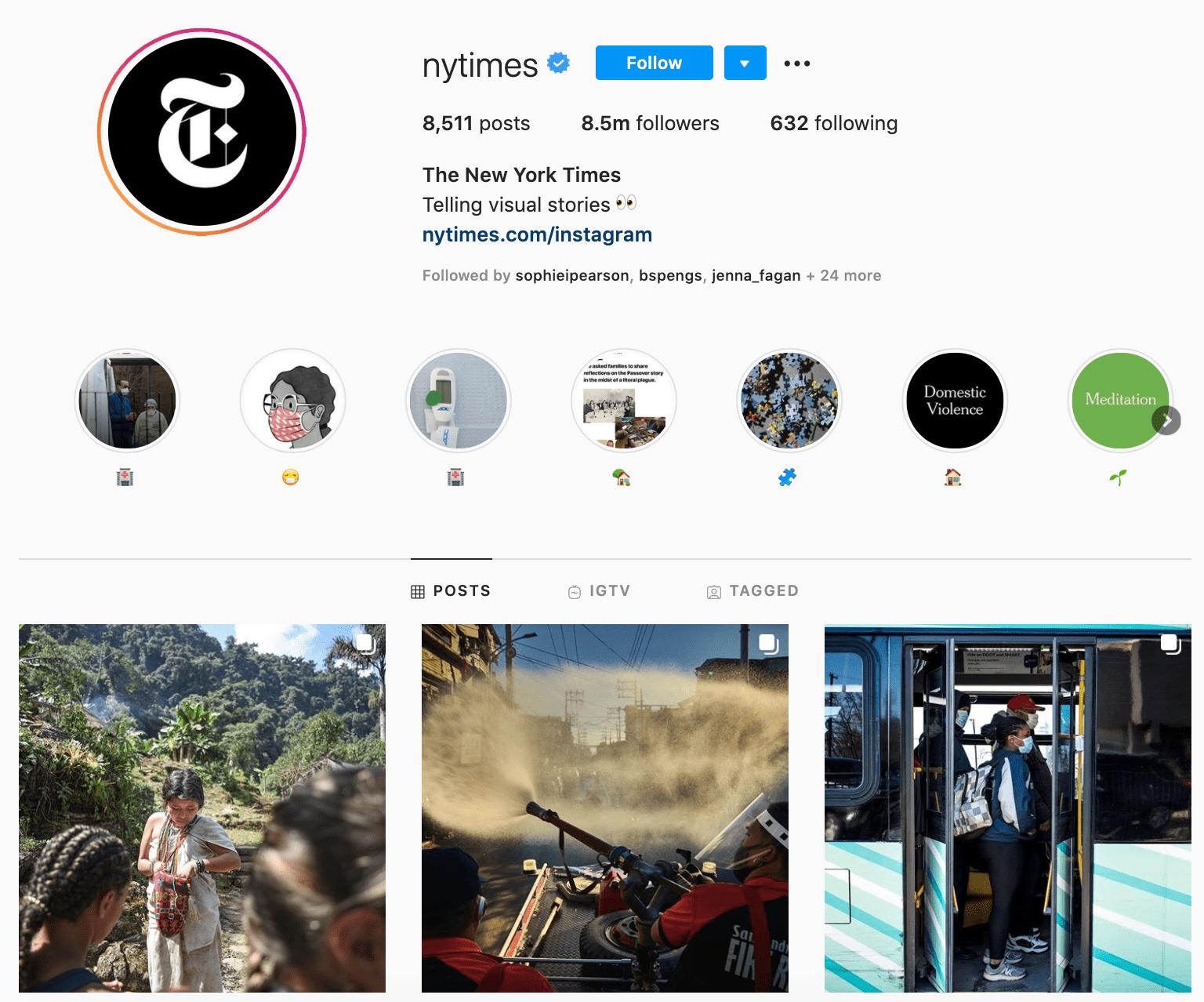 new york times instagram