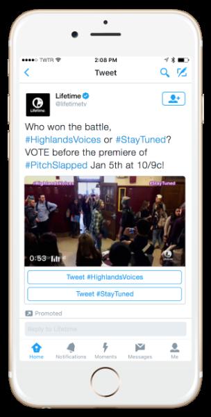 Twitter Conversational Ads Lifetime example