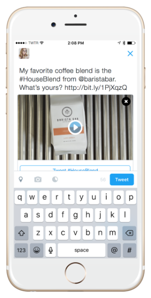 Twitter Conversational Ads new tweet example