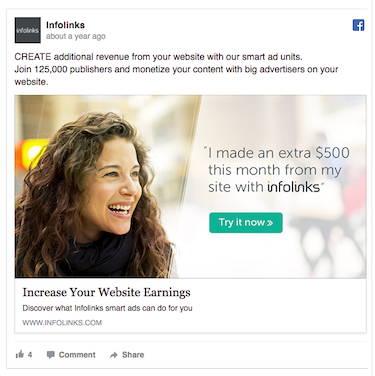voice of the customer Infolinks example