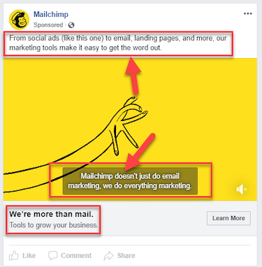 voice of the customer MailChimp Facebook example
