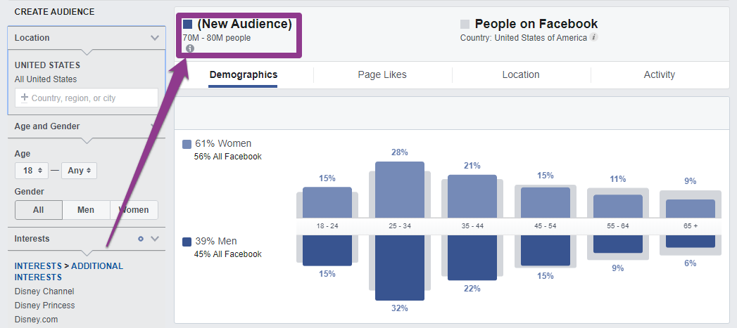 voice of the customer targeting large Facebook audience