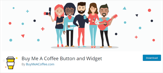 The Buy Me a Coffee tip jar plugin on the WordPress website