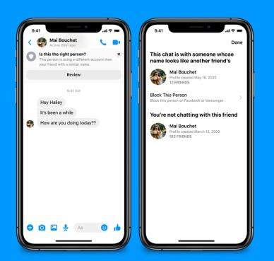 Facebook Messenger warning