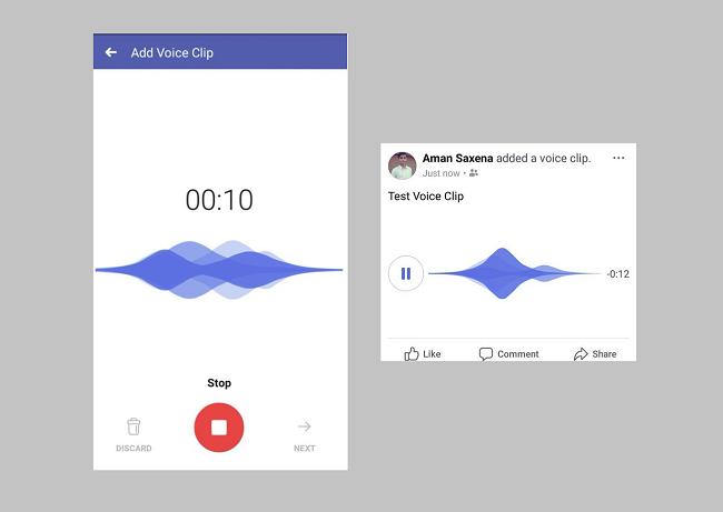 Facebook audio posts
