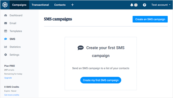 Create your first SMS campaign
