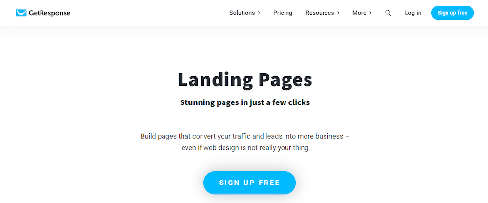 GetResponse landing page software review