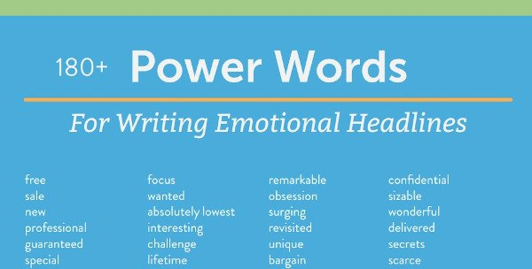 """tip sheet example from coschedule that reads """"180+ power words for writing emotional headlines"""""""