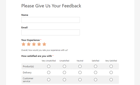 Your finished questionnaire live on the website