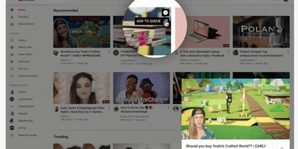 YouTube Launches a Redesign of its Desktop Homepage via @MattGSouthern