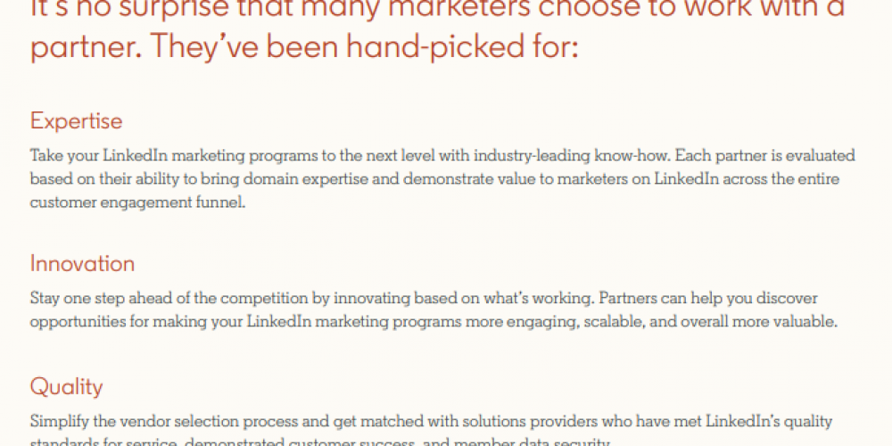 LinkedIn Publishes New LinkedIn Marketing Solutions Partners Guide