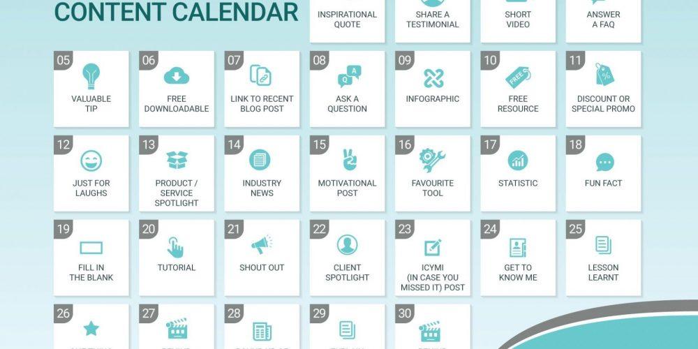 30 Days of Social Media Content Calendar [Infographic]