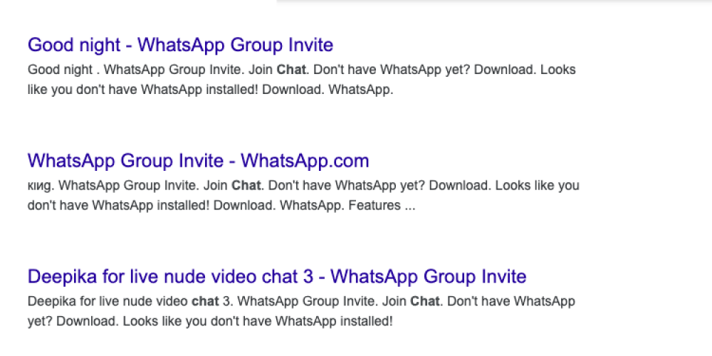 Google & Other Search Engines Found Indexing Links to Private WhatsApp Groups via @MattGSouthern