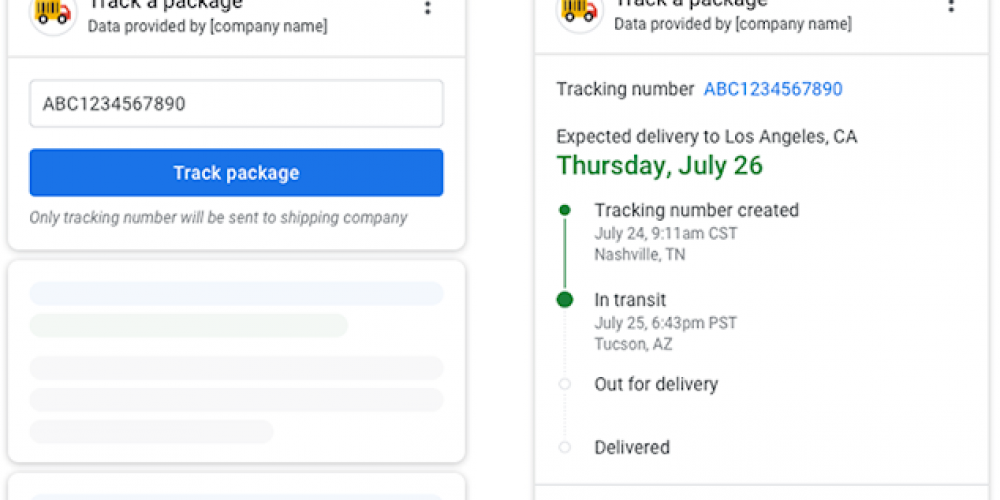 Google is Working on Adding Package Tracking to Search Results via @MattGSouthern
