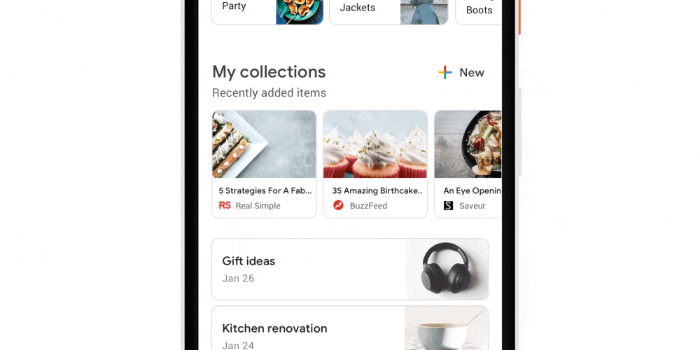 Google Adds New 'Collections' Listings Based on Your Search History