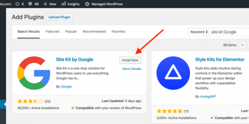Here's how to set up the Google Site Kit WordPress plugin