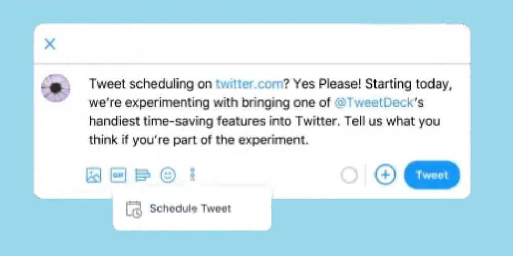 Twitter's Testing Tweet Scheduling Built Into the Tweet Composer