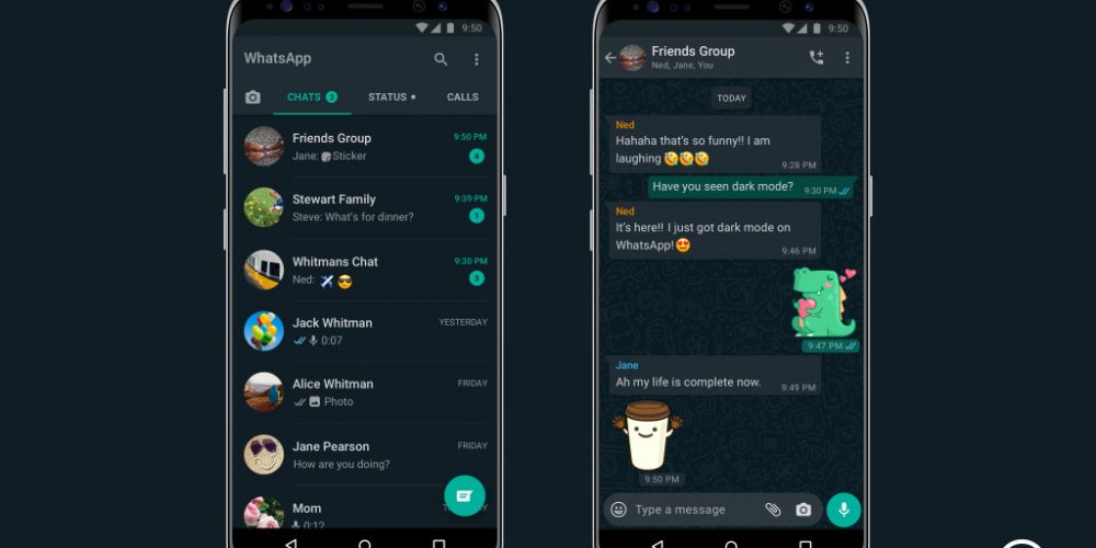 Facebook Finally Launches Dark Mode for WhatsApp