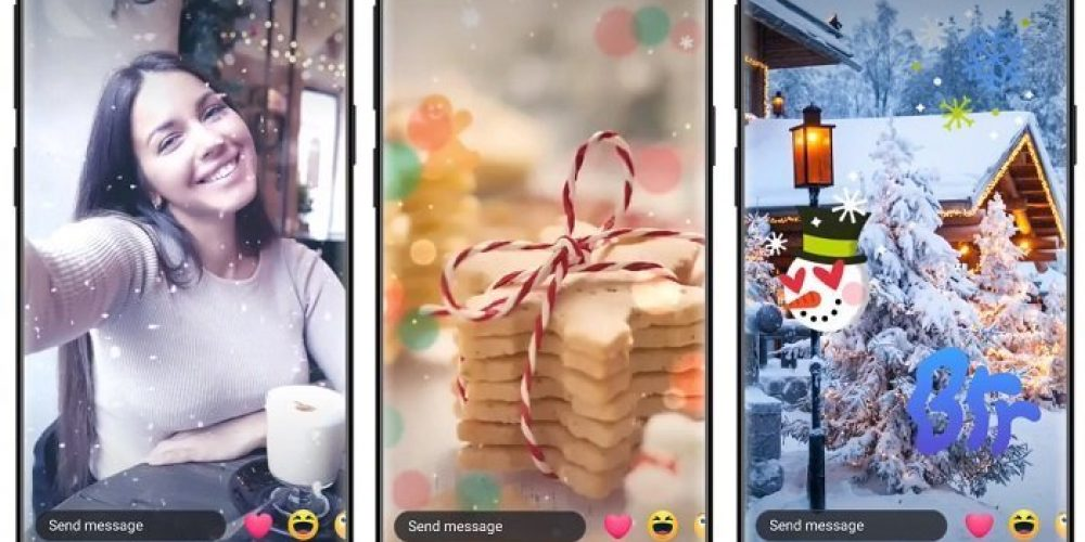 Facebook Adds Holiday-Themed Features for Messenger, Along with Messenger Stories Archive