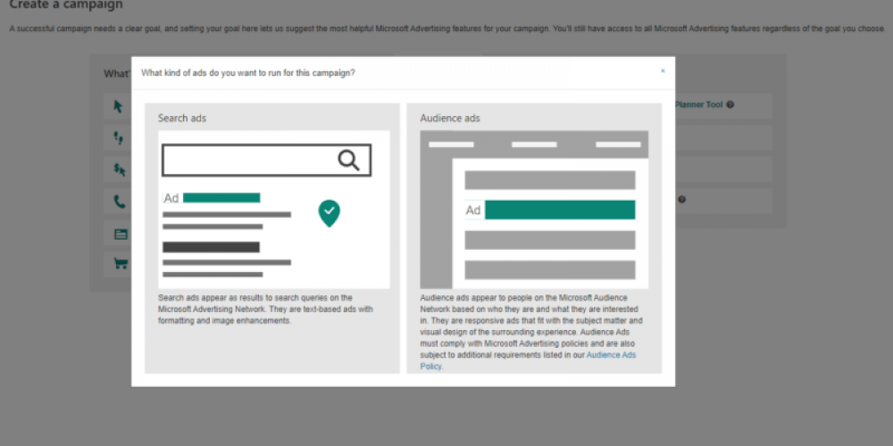 Setting up a Microsoft Audience ads campaign