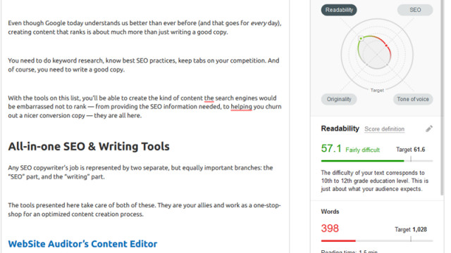 Top 25 SEO Writing Tools to Earn More Traffic From Google via @ab80