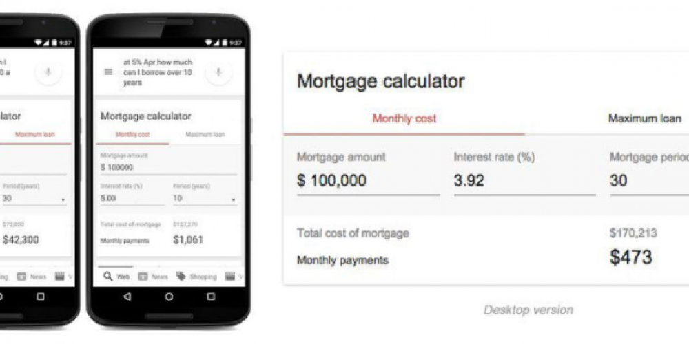 Google Upgrades Its Built-In Mortgage Calculator With New Features via @MattGSouthern