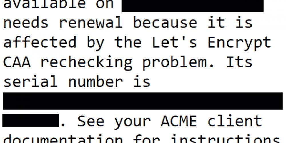 Let's Encrypt Revoking 3 Million Security Certificates via @martinibuster