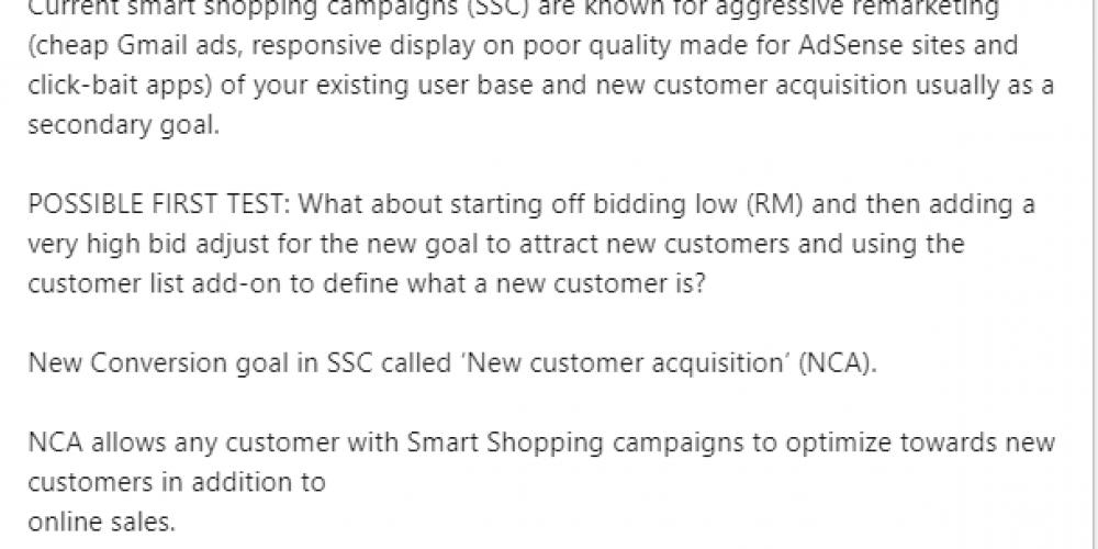 Google Smart Shopping Beta Testing New Customer Only Goal via @SusanEDub