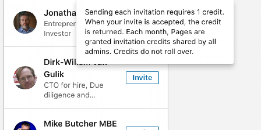 LinkedIn to Prevent Users From Spamming Page Follow Invites via @MattGSouthern