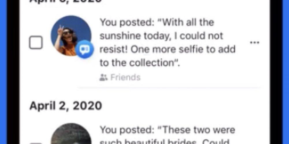 Facebook Lets Users Delete Old Posts in Bulk via @MattGSouthern