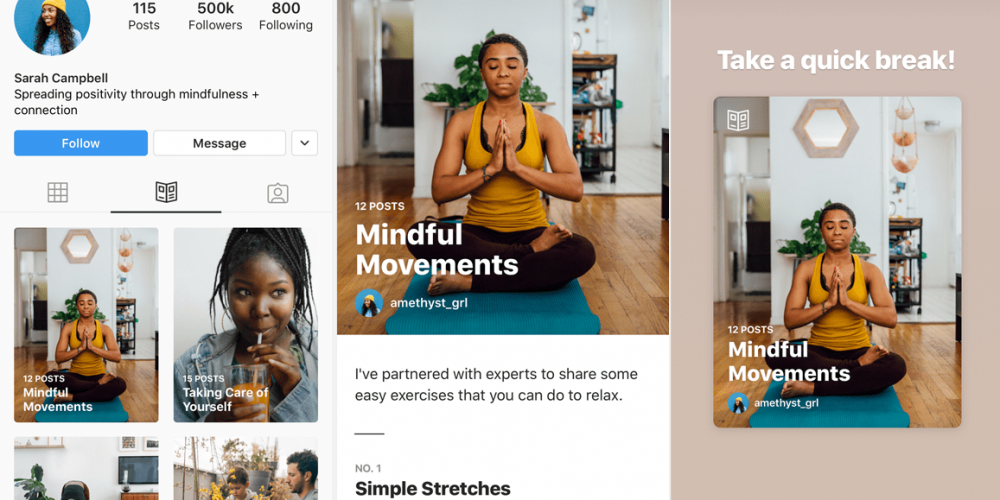 Instagram Adds New 'Guides' Profile Section to Help users Connect with Resources and Products