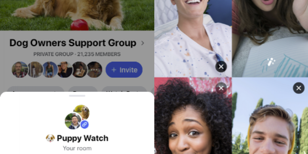 Facebook Adds Messenger Rooms for Groups and Events