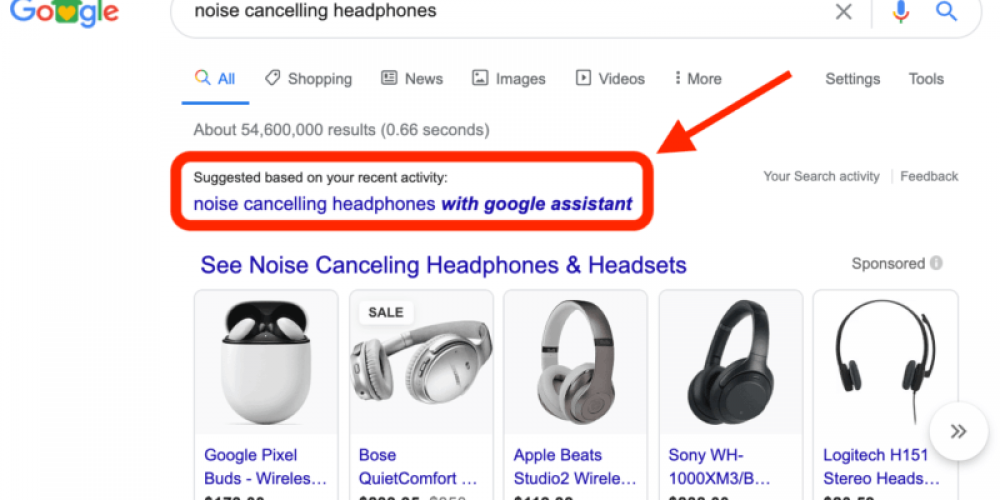 Google is suggesting searches based on users' recent activity