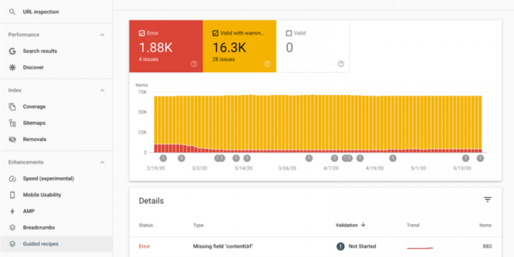Google Search Console adds new guided recipes reports