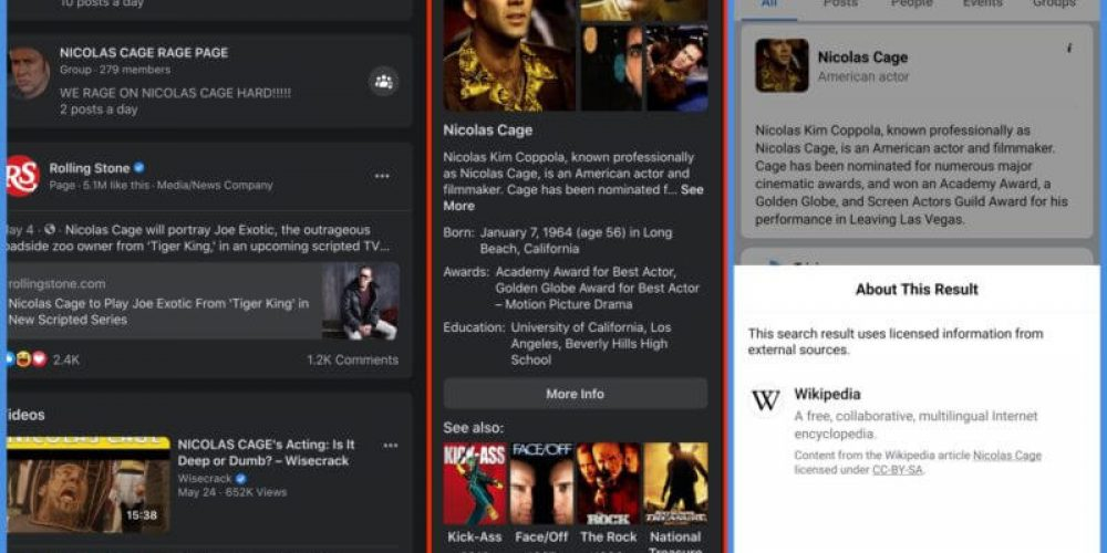 Facebook intros new knowledge panel-like information boxes
