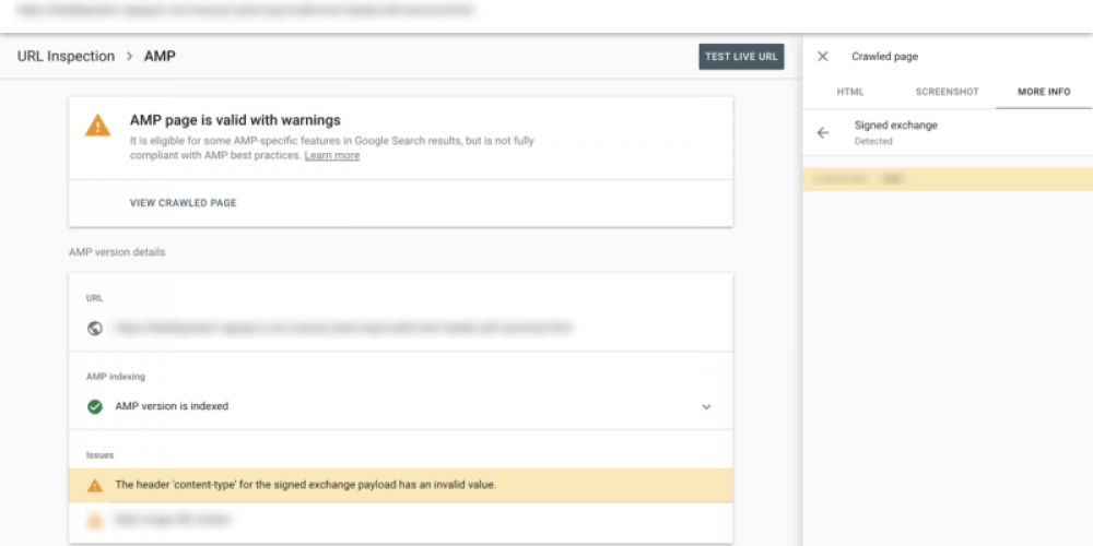 Google Search Console can now help you fix your  AMP Signed Exchange (SXG) problems