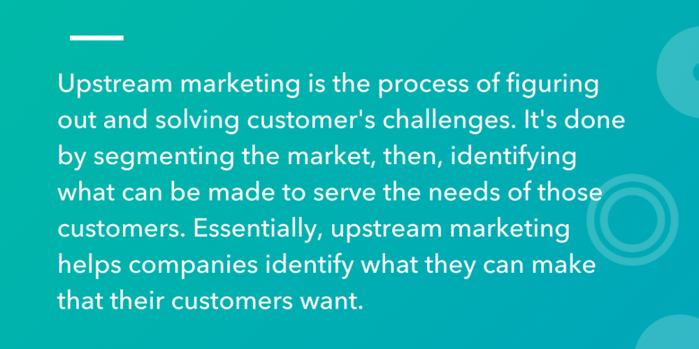 Upstream vs. Downstream Marketing, Explained