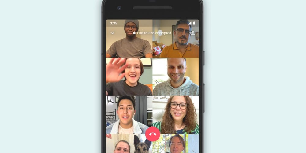 WhatsApp Officially Launches New, 8-Person Group Video Chat Option