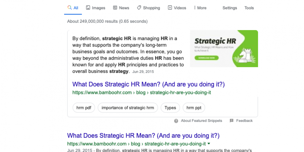 "The Power of ""Is"": A Featured Snippet Case Study"