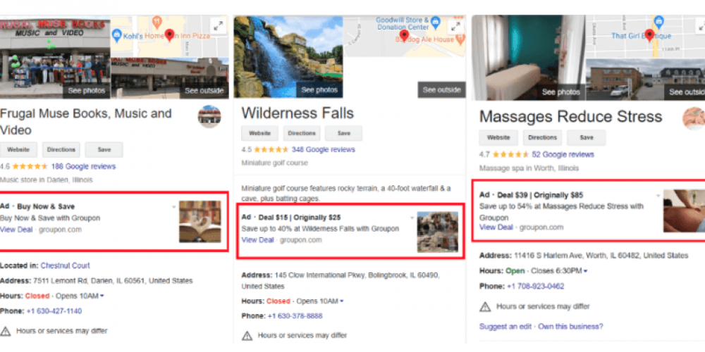 With new 'pilot program,' Google again testing ads on local business profiles