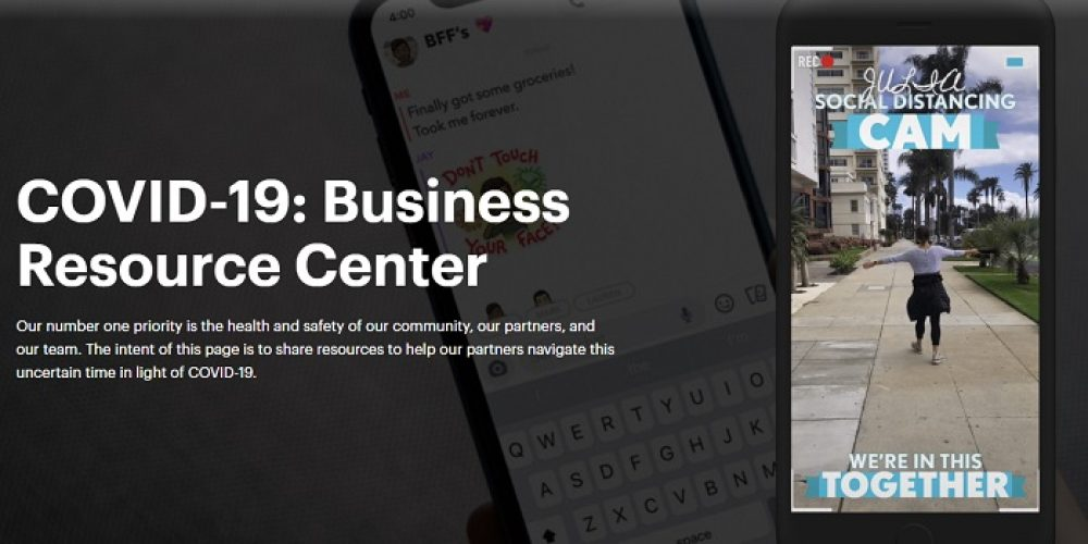 Snapchat Launches New COVID-19 Business Resource Center to Assist Marketers With Campaigns