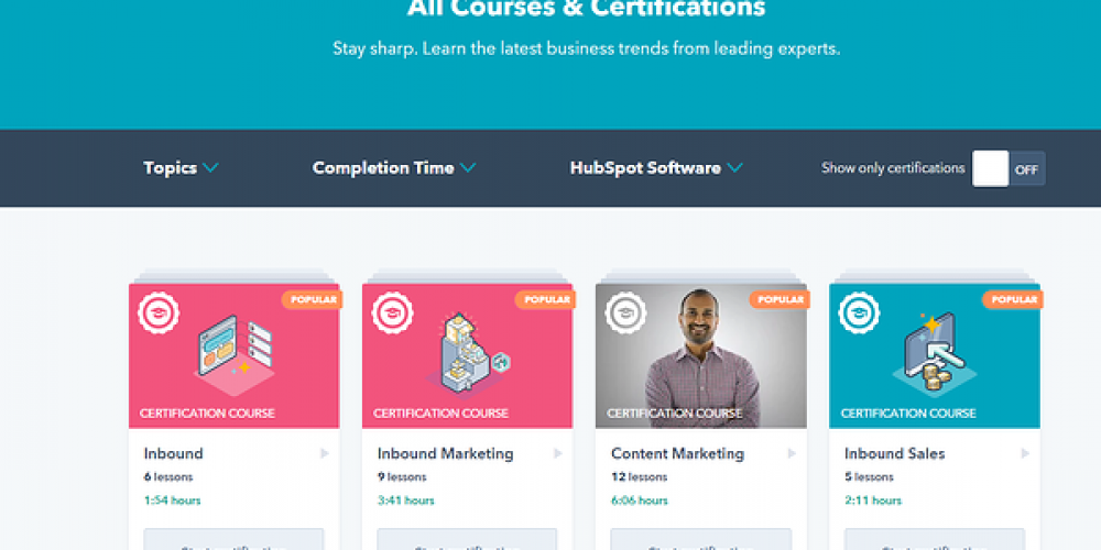 Top 10 HubSpot Academy Courses You Can Take in Under 1 Hour