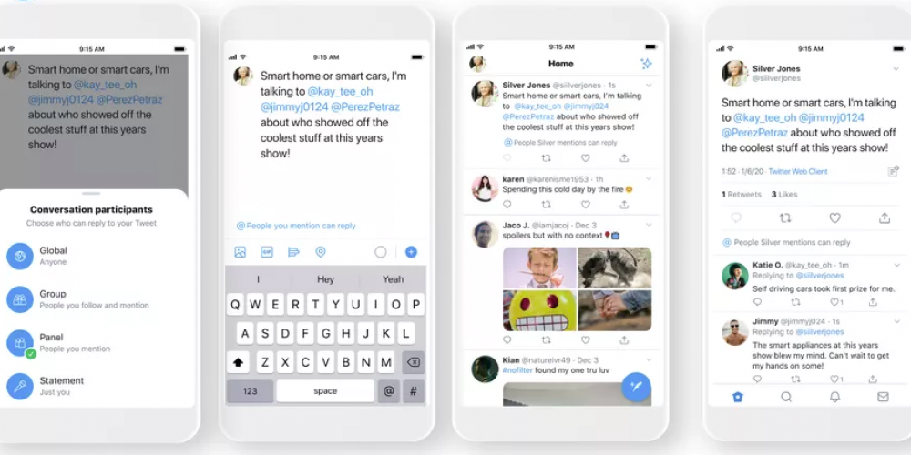 Twitter Provides a First Look at Coming Feature Which Will Enable Users to Limit Who Can Reply to their Tweets