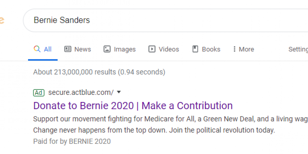 See How the Bernie Sanders Campaign Uses Post-Click Experiences to Inspire Voters to Take Action (3 Examples)