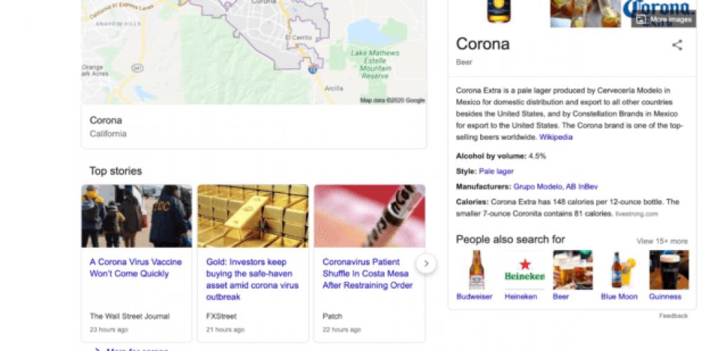 Corona to COVID: How Google's 'corona' results page has evolved
