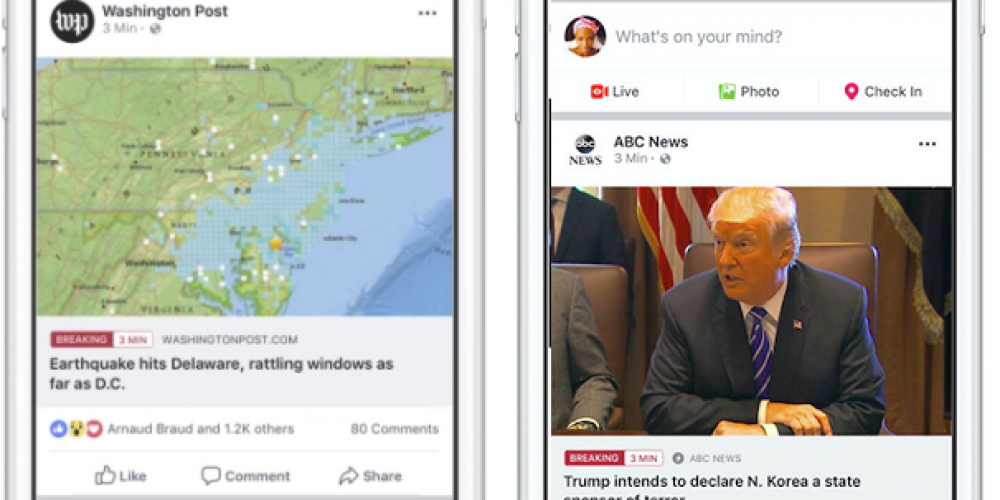 Facebook Expands its 'Breaking News' Tags to More Regions