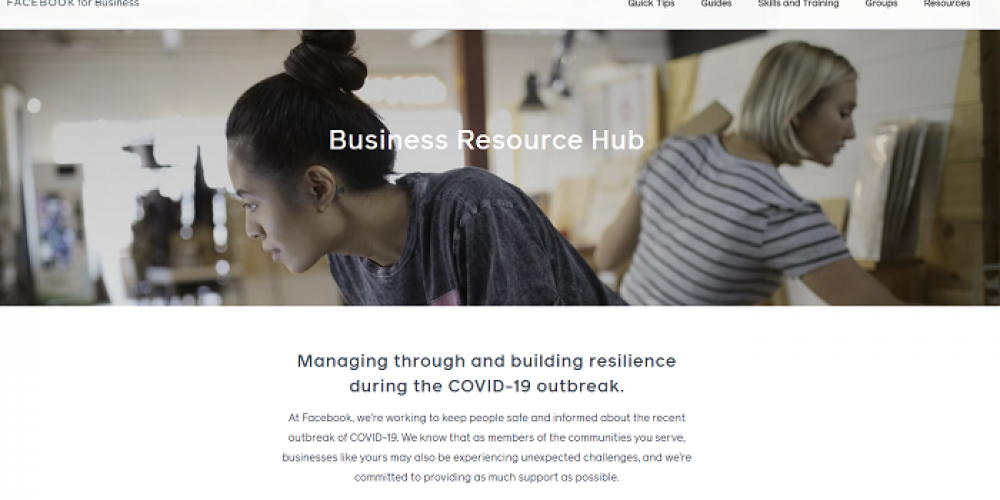 Facebook Launches New Business Resource Hub for Organizations Impacted by Coronavirus