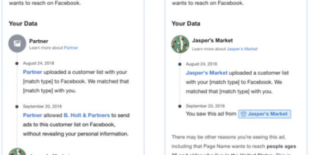 Facebook's Adding More Detail to its User Controls Over Advertisers' Custom Audience List Targeting