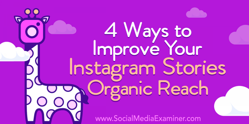4 Ways to Improve Your Instagram Stories Organic Reach